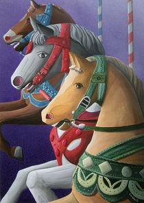 Alte Karussellpferde by Roland H. Palm
