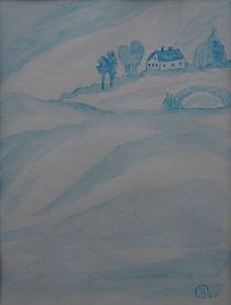Haus im Nebel by Birgit Oehmig