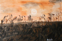 Sonnenuntergang am Meer von Géza Székely