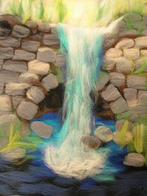 Wollbild Wasserfall by Birgit Albert