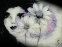 Wollbild Blumenmädchen von Birgit Albert