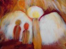 Schutzengel Wollbild von Birgit Albert