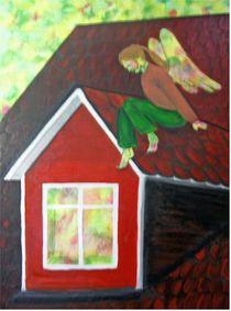 Schutzengel auf dem Dach by Birgit Albert