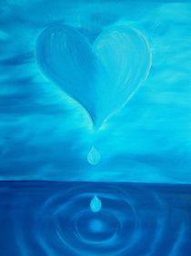 blaues Herz von Birgit Albert