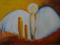 Schutzengel Acryl von Birgit Albert