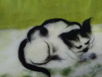 Katze abstrakt von Birgit Albert