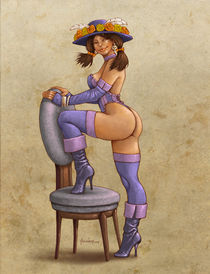 La Catrina as a Pinup Girl by Alejandro Gutierrez Franco
