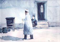 Mann am Basar, Usbekistan by Eva Pötzelsberger