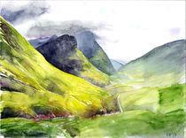 Pass von Glencoe, Schottland by Eva Pötzelsberger