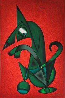 Braver Hund 2006 60 x 90 cm von Harry Stabno