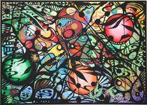 Abstraktion Drei 1999 90 x 60 cm von Harry Stabno
