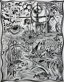 Mein Alphabet 2006 70 x 90 cm von Harry Stabno
