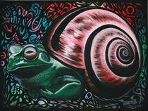 Froschneck der Erste - 1992 80 x 60 cm von Harry Stabno