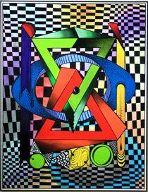 Hologtron 2009 70 x 90 cm  von Harry Stabno