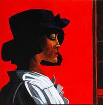 Frau mit Hut von Karin Stein