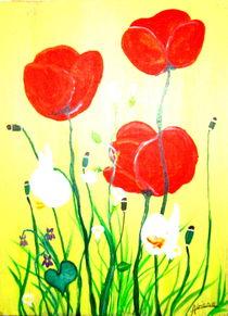 Roter  Mohn blumen by Adriana Wulke