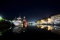 Emden harbour at Night by Stefanie Härtwig