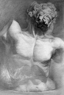 Laocoon - statue pencil drawing by Alex Pan