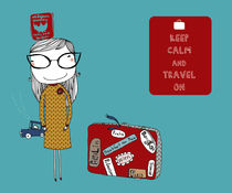 'Keep Calm and Travel On' by June Keser