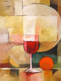 Ein Glas Rotwein - Red Wine von Lutz Baar
