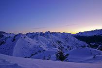 Morgendämmerung in den Bergen von Johannes Netzer