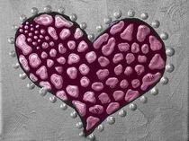 Liebesherz Vivitoart rosa rot von Angela Parszyk