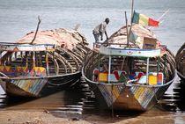 Boote am Niger 2 von Walter Vymyslicky