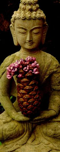 Buddha is holding a booming cone von flossmeisterin