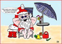 Weihnachtsmann im Urlaub by Ingrid Besenböck