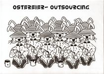 Ostereier Outsourcing by Ingrid Besenböck
