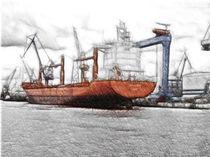 Schiff - Frachter - Hafen by gunnarlasombra