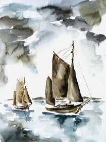 Zeesboote by Claudia Pinkau