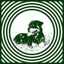 Popart Hund von Gabriela Wejat-Zaretzke