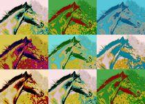 Popart Pferd bunt by Gabriela Wejat-Zaretzke