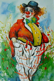 Clown in Sommerwiese von Barbara Tolnay