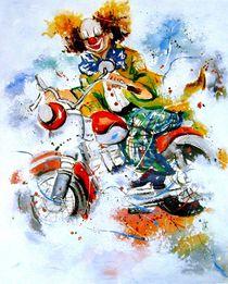 Motorradclown von Barbara Tolnay