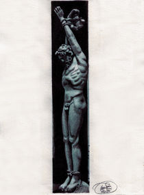 hanging man by Mario Faustino