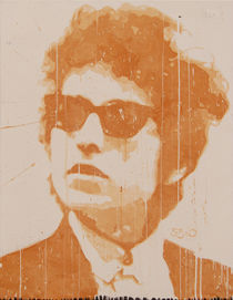 Bob Dylan with the cool sunglasses  by Smitty Brandner