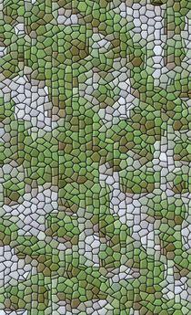 grüne Ode im hellblauen Mosaik von mondschwester