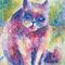 Katze-fragend