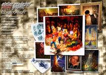 Flyer Atelier Neudecker Illustration Innenseiten by Peter Neudecker
