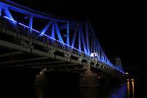 Glienicker Brücke Nachts, Feier 20 Jahre Mauerfall by rotschwarzdesign