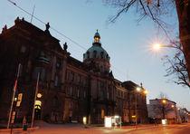 Potsdamer Stadthaus, Abends schräg 2 by rotschwarzdesign