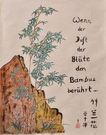 Wenn der Duft der Blüte den Bambus berührt by Claudia Janßen