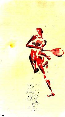 Tennis 1 Return von Theodor Fischer