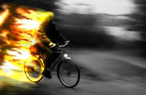 The fire cyclist by scphoto