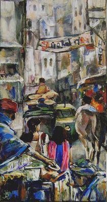 Delhi - in den Gassen der Altstadt  von Renée König