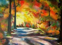 Herbstweg II von Renée König