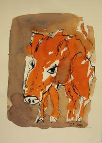 rote Wildsau by Sonja Zeltner-Müller