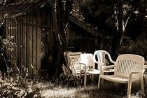 Gartenhaus mit Sitzmöbel von Michael Guntenhöner